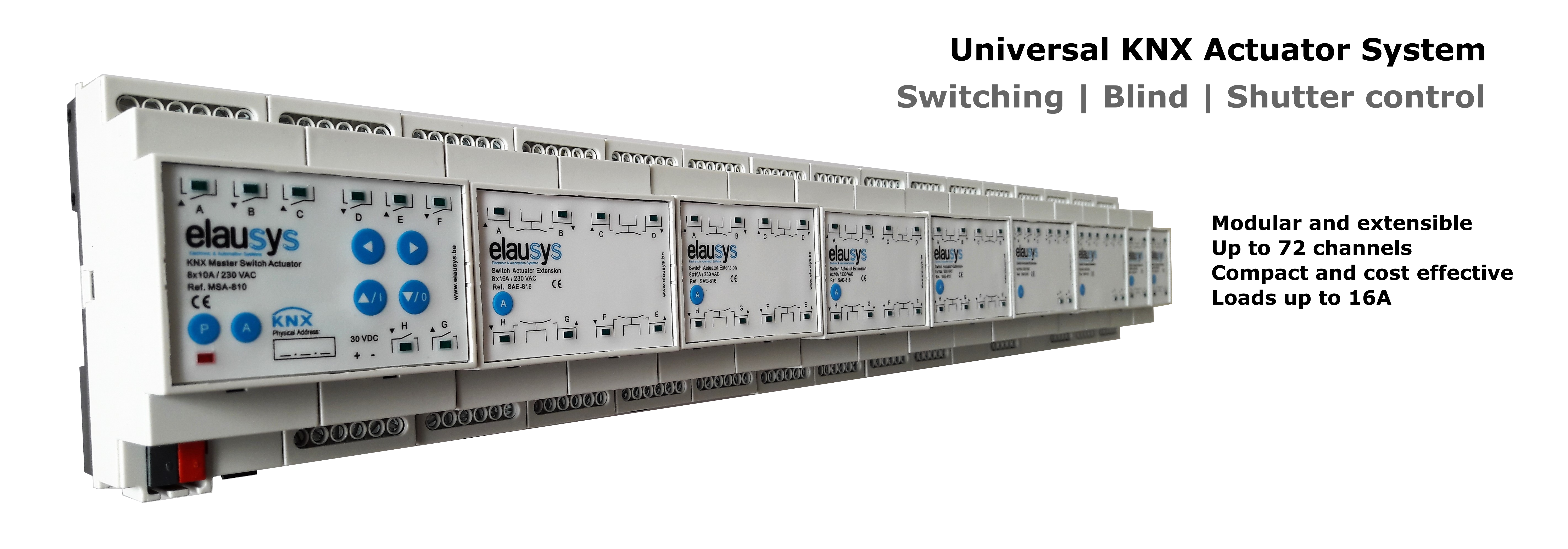 Universal KNX Actuator system